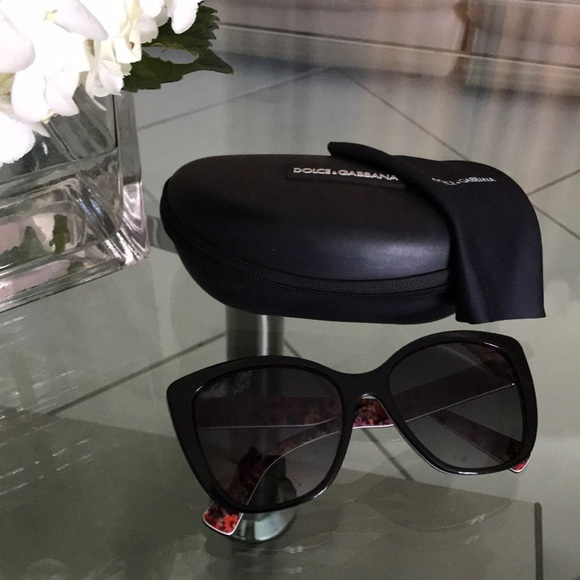 0d02ece2a Dolce & Gabbana Accessories | Dolce Gabbana Black Cateye Sunglasses ...